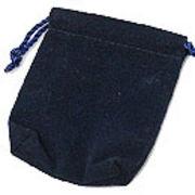 【ネーム・ロゴ入れ可能☆ベルベットポーチ・巾着】色々使える販促用品 12枚セット【濃青】5サイズ