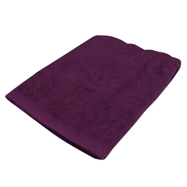 1000匁バスタオル:パープル(全8色)【70x140cm】【無地】【業務用タオル】