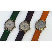 アンティークなデザインが大人気!革ベルトファッションウォッチ【腕時計】