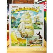 アメリカンブリキ看板 レトロ帆舟 To The Sea