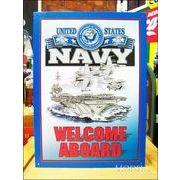 アメリカンブリキ看板 Navy/ネイビー 海軍