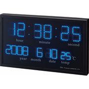 【代引不可】 フェリオ LEDデジタル置掛兼用時計 アギラ 目覚まし時計