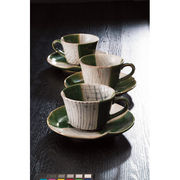 【代引不可】 瀬戸焼 織部 コーヒー5客セット マグ(ビーカー)