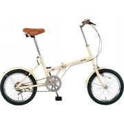 【代引不可】 シンプルスタイル 16型折りたたみ自転車 本体