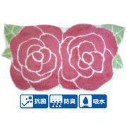 薔薇/ローズのアクリルマット<フロアマット/バスマット/ラグマット/キッチンマット>