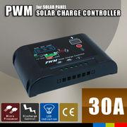 太陽光パネル ソーラーパネル チャージコントローラー 30A PWM パネル~バッテリー