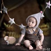 激安☆撮影写真★0-1歳★幼児★サロペット★ロンパース★帽子+Tシャツ+吊りズボン★セット