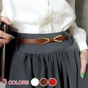 全3色★メタルリボン細いベルト :H01B0685