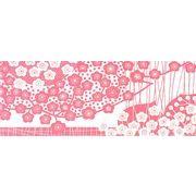 加藤萬 和雑貨 祝い文 手拭い 梅つくさん花 ピンク 35×90cm