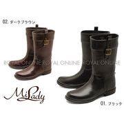 【ミレディー】 ML883 ジョッキータイプ レインブーツ 全2色 レディース