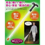 クマザキエイム SOLPA 「暗い夜道も安心・安全」 ソーラー充電式LEDライト安全杖 【照らステッキ】 SL-1121