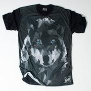 Ryll サブリメーション プリントTシャツ ポリゴン 狼