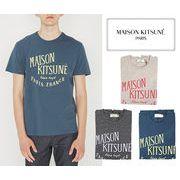 MAISON KITSUNE メゾンキツネ メンズ クルーネック 半袖Tシャツ PALAIS ROYAL (全3色)【FW16M711】