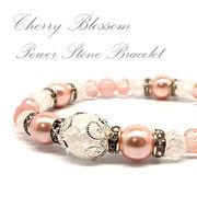 天然石 桜色 spring デザインブレスレット 2nd 《SION パワーストーン 天然石》