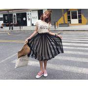 初回送料無料 2017 イージー ゆったり Tシャツ  スカート 大人気 全2色 gjeeh-17eb14 春夏 新作