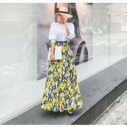 2017♪【海外買付】シンプルスタイル 混ざる ロングスカート 全2色 7july-zie-7611