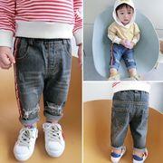 キッズ洋服 男児 ジーンズ 児童 パンツ 春秋 新しいデザイン 韓国風 赤ちゃん ズボン
