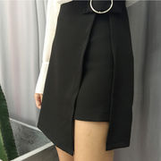 秋 新しいデザイン 女性服 装飾 ハイウエスト 着やせ 着やせ 不規則な 学生パック ス