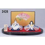 ★ひな祭りを飾る★ 陶製の雛人形 【染錦 睦雛】