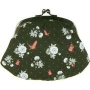 LES INVASIONS EPHEMERES がま口 財布 (中) 鳥と花