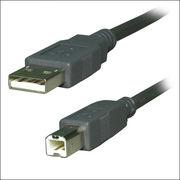 【2m】USB2.0ケーブル/ダークグレー/A-B
