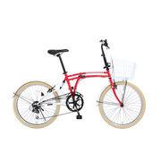 「メーカー直送」M6-24-RD ドッペルギャンガー 折りたたみ自転車 24インチ ポッピーレッド