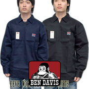 BEN DAVIS �y �x�� �f�C�r�X �z �n�[�t�W�b�v ���� �V���c Solid 1/2 Zipper Front