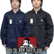 BEN DAVIS 【 ベン デイビス 】 ハーフジップ 長袖 シャツ Solid 1/2 Zipper Front