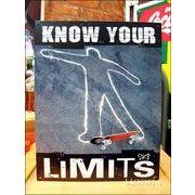 アメリカンブリキ看板 -KNOW YOUR LIMITS-限界を知れ