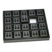ディスプレイ用品: イヤリングホルダー 黒 e-h-50