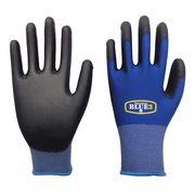 園芸 農業 配送業 に! 18ゲージ ブルースリー手袋 ポリウレタン S、M、Lサイズ