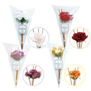SIGNAL シグナル フラワーディフューザー用 リードスティックリフィル(花付) ローズ4種
