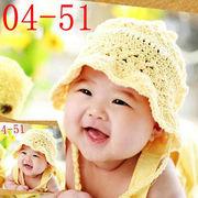 激安!!人気★0-1歳★撮影写真★ベビー★幼児★編む★花々柄★帽子+ロンパース★セット