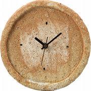 【代引不可】 信楽焼 掛時計 火色荒土 壁掛け時計