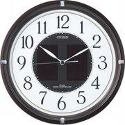 【代引不可】 シチズン ソーラー電源電波掛時計 エコライフ 壁掛け時計