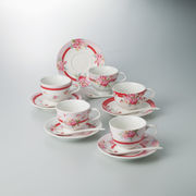 【代引不可】 ノーブル 兼用碗皿5客セット マグ(ビーカー)