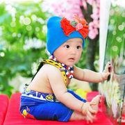 激安!!0-1歳★撮影写真★幼児★スター★蝶結び&フラワー★ネックレス+吊りズボン★セット