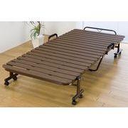 【完成品】折りたたみ抗菌樹脂すのこベッド