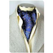 エレガント袋縫いメンズ用100%シルクスカーフ 1051