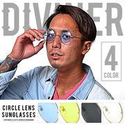 最旬スタイルに♪【DIVINER】サークルレンズサングラス/丸眼鏡 メガネ オラオラ メンズ ラウンド
