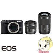 Canon �~���[���X���t�J���� EOS M3 �_�u���Y�[���L�b�g2 [�u���b�N]