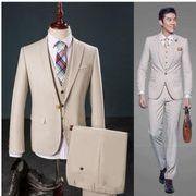 結婚式スーツ メンズ スリム スリーピース 1ボタン フォマール セットアップ 二次会 同窓会 入学式