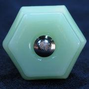 ガラスノブ Sサイズ/ミルクグリーン