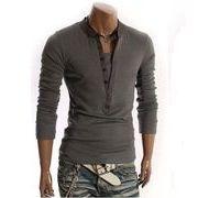 フェイクレイヤード重ね着風Tシャツ 6色 348