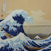 【外国人お土産シリーズ】日本画風ちりめん風呂敷(インテリアにも最高です。)
