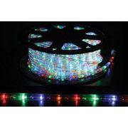 【4色・ミックスカラー】LEDチューブライト(ロープライト)2芯タイプ/100m/直径10mm/3200球