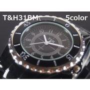 T&Hメンズ腕時計 メタルウォッチ 日本製ムーブメント