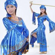 激安!ベリーダンス◆ジプシー風◆スリット◆ビーズ&スパンコール◆ワンピ+頭巾+ヒップスカーフ