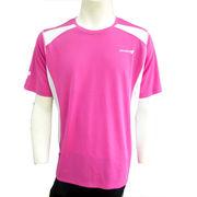 ●☆DOUBLE3メンズ (Men's) ショートスリーブシャツ(DW3280)ピンク50159