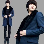 ファー襟コート メンズ 4色 100612